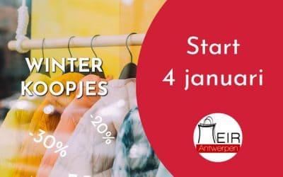 Start wintersolden 4 januari met zondagsopening op 10 januari